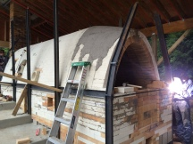Front arches going up and street being welded on by Kurt Heinzmann