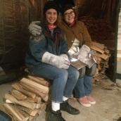 Brittany Crawford and I firing the kiln